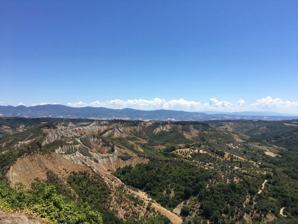 チヴィタからの眺め、絶景