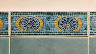 トイレのタイル装飾