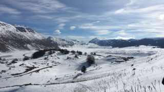 ローマ近郊カンポフェリーチェの雪景色