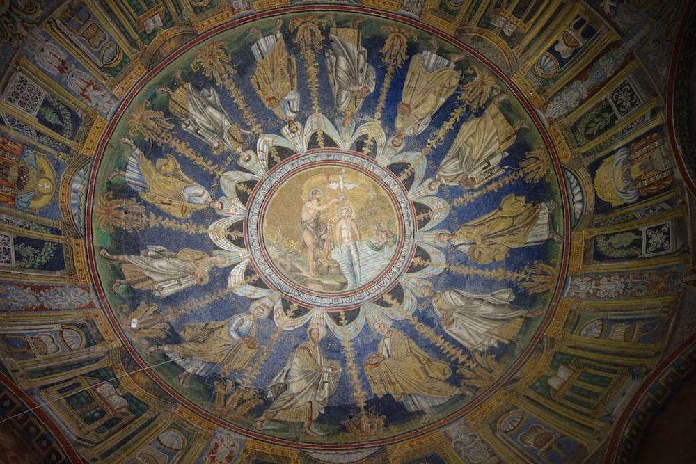ネオーネ礼拝堂の天井モザイク画