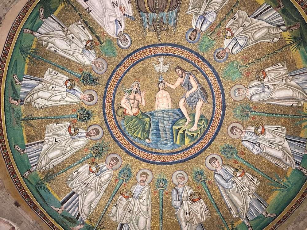 アリアーニ洗礼堂の天井モザイク画