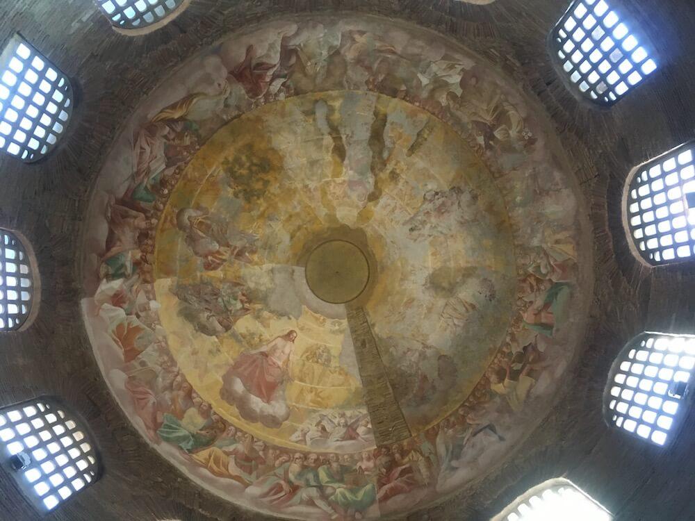 コスタンツァの霊廟の天井のフレスコ画