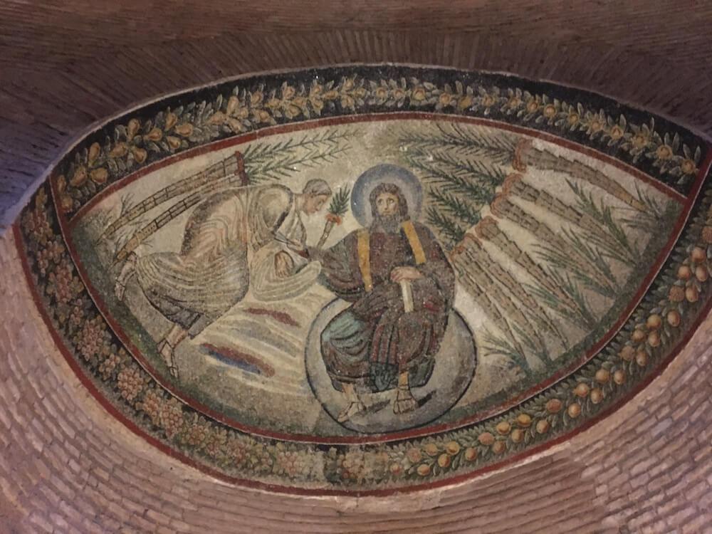 霊廟のモザイク画
