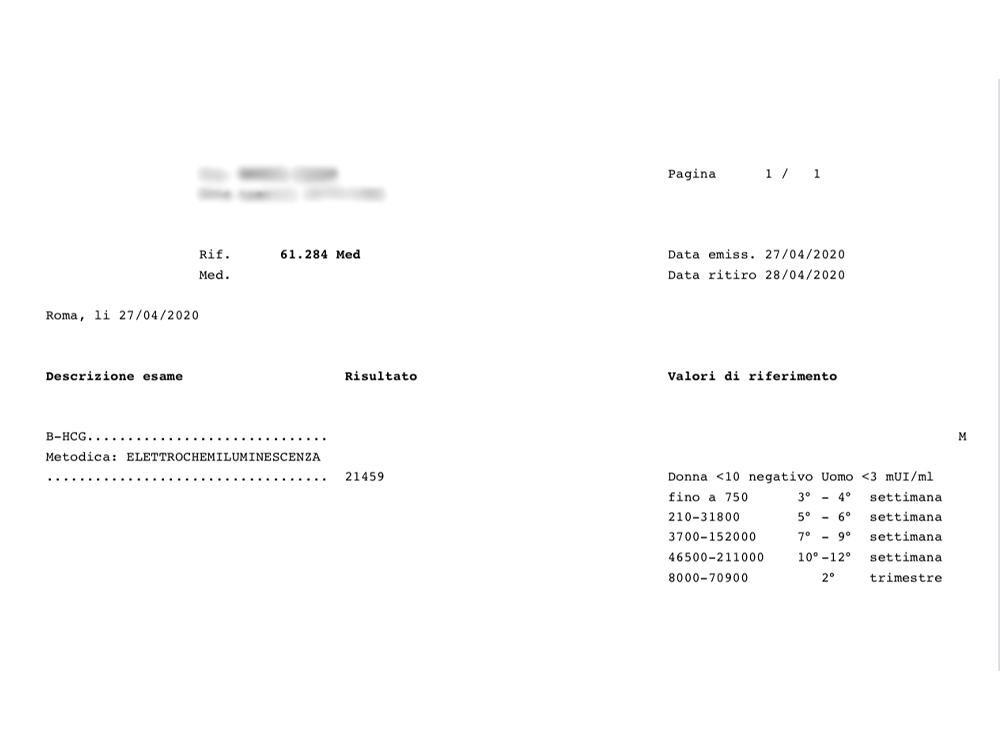 b-hcg検査結果